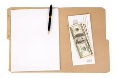 File folder and mail. A file folder and mail, business concept Royalty Free Stock Photo