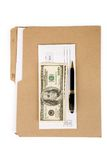 File folder and mail Royalty Free Stock Image
