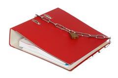 File folder and padlock Stock Photo