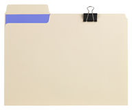 File folder with path stock photography
