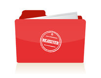 File folder with rejected documents. Illustration Stock Photos