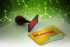 File folder rejection concept Stock Photos