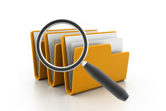 File folder search. 3d illustration of File folder search Stock Image