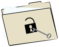 File folder security Royalty Free Stock Photos