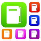 File folder set color collection Stock Photos