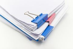 File folder and Stack of business report paper file royalty free stock photo