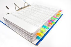 File folder with sticker Stock Photography