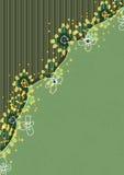 File Folder Style Flower_eps. Illustration of file folder style with flowers with stripe and green backgrounds Stock Photo