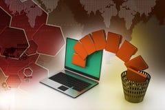 File folder transfer Royalty Free Stock Photo