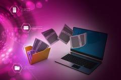 File folder transfer Stock Photos