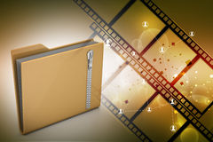 File folder with zip Royalty Free Stock Photography