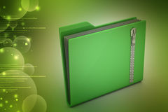 File folder with zip Royalty Free Stock Photo