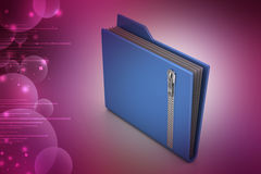 File folder with zip Stock Photos