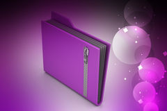 File folder with zip Royalty Free Stock Photos
