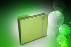 File folder with zip Royalty Free Stock Images