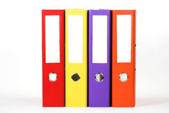 File folders. Row of color file folders Royalty Free Stock Image