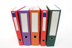 File folders. Row of color file folders Stock Photo