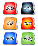 File folders. Set of the files and folders icons Royalty Free Stock Photography