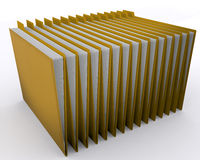 File Folders. Organized folders in a row, Over white background Stock Photography