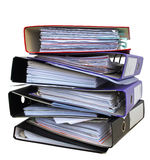 File folders. Stack of messy file folders Stock Image