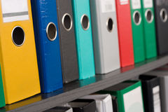File folders stock image