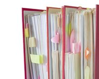 File folders, Royalty Free Stock Photos