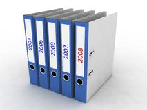File folders. On the white background Royalty Free Stock Photography