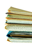 File Folders. With invoices, financial records and reports Stock Photography