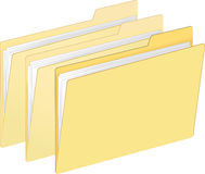 File Folders. File folder vector illustration with plain color folders. Each folder on separate layer in EPS file for easy use Royalty Free Stock Photography