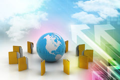 File folders around Earth Stock Images