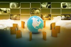 File folders around Earth Stock Photography