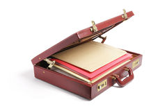 File Folders in Briefcase Royalty Free Stock Photography