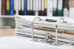 File folders on desk Royalty Free Stock Photos