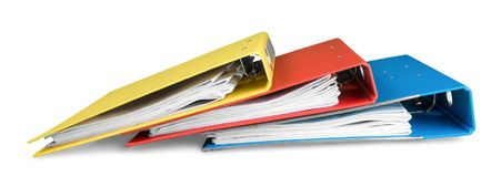 File folders with documents royalty free stock image