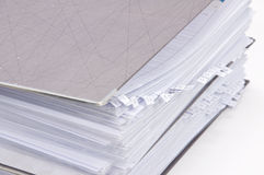 File folders with documents Stock Image