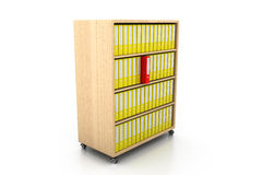 File folders. Documents standing on the shelves Royalty Free Stock Photos
