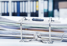 File folders in office Royalty Free Stock Photography