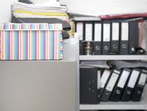 File Folders In Office royalty free stock image