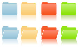 File folders with place for label Royalty Free Stock Images