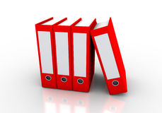 File folders. Red folders are used in the world of business and education Stock Image