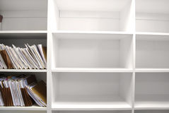 File Folders on Shelf Stock Photos