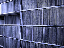 File Folders on Shelf Royalty Free Stock Images