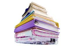 File folders on white background Stock Photos