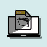 File format design. Illustration eps10 graphic royalty free illustration