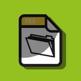 File format design. Illustration eps10 graphic Stock Images