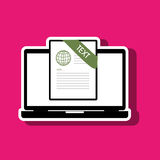 File format design. Illustration eps10 graphic Royalty Free Stock Photo