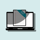 File format design. Illustration eps10 graphic Royalty Free Stock Images