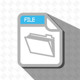 File format design. Illustration eps10 graphic Royalty Free Stock Photography