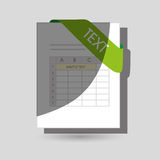 File format design. Illustration eps10 graphic Stock Photography