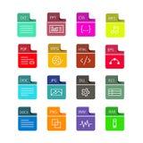 File format flat icon set vector royalty free illustration
